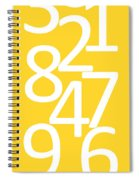 Numbers In Yellow And White Spiral Notebook