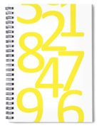 Numbers In Yellow Spiral Notebook