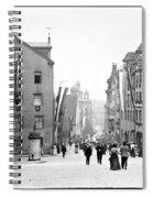 Nuremberg Street Scene 1903 Vintage Photograph Spiral Notebook
