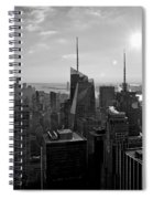Ny Times Skyline Bw Spiral Notebook