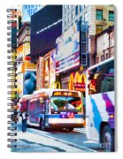 Ny Times Square Impressions Iv Spiral Notebook