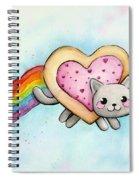 Nyan Cat Valentine Heart Spiral Notebook