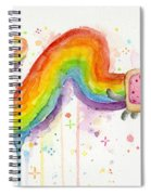 Nyan Cat Watercolor Spiral Notebook