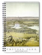 Nyc Central Park, C1859 Spiral Notebook