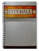 Nyc City Hall Subway Station Spiral Notebook