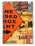 Nyc Construction Graffiti  Spiral Notebook
