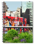 Nyc-high Line Billboard Art Spiral Notebook