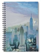 Nyc Morning Blues Spiral Notebook