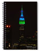 Nyc Salutes Seattle Seahawks Spiral Notebook