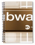 Nyc Subway Sign Spiral Notebook