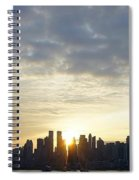 Nyc Sunrise Panorama Spiral Notebook