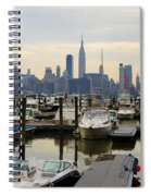 Nyc View From Lincoln Harbor Weehawkin Nj Spiral Notebook