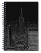 Nyc White On Black Spiral Notebook