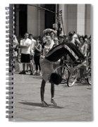 Nycity Street Performer Spiral Notebook