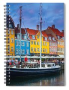 Nyhavn Canal Spiral Notebook