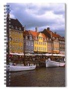 Nyhavn Copenhagen Spiral Notebook
