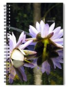 Nymphaea Colorata. Water Lilies Spiral Notebook