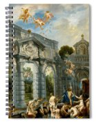 Nymphs At The Fountain Of Love Spiral Notebook