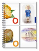 O Boy Art Alphabet For Kids Room Spiral Notebook