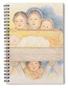 O Come Little Children - Christmas Card Spiral Notebook