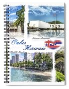 Oahu Postcard 2 Spiral Notebook