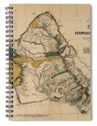 Oahu Sovereign Hawaii Map  1881 Spiral Notebook