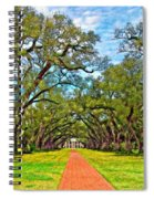 Oak Alley 3 Oil Spiral Notebook