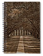 Oak Alley Bw Spiral Notebook