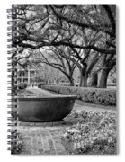 Oak Alley Plantation Landscape In Bw Spiral Notebook