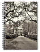 Oak Alley Rear Entrance Sepia Spiral Notebook