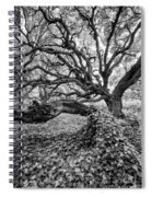 Oak And Ivy Bw Spiral Notebook