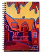 Oak Bluffs In Red Spiral Notebook
