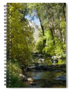 Oak Creek Canyon Creek Arizona Spiral Notebook