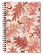 Oak Leaves And Acorns Spiral Notebook