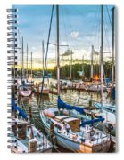 Oak Pt Harbor At Sundown Spiral Notebook