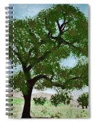 Oak Tree Landscape Spiral Notebook