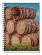 Oak Wine Barrels Spiral Notebook
