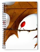 Oak With Berries Spiral Notebook