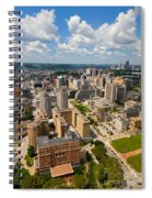 Oakland Pitt Campus With City Of Pittsburgh In The Distance Spiral Notebook