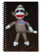 Obama Sock Monkey Spiral Notebook