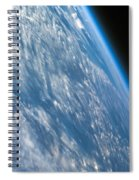 Oblique Shot Of Earth Spiral Notebook
