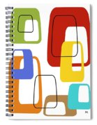 Oblongs On White 3 Spiral Notebook