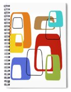 Oblongs On White 4 Spiral Notebook