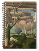Observation Of Fire Spiral Notebook