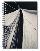 Obsession Sails 2 Black And White Spiral Notebook