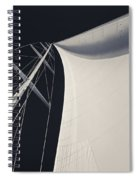Obsession Sails 3 Black And White Spiral Notebook