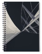 Obsession Sails 8 Black And White Spiral Notebook