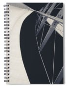 Obsession Sails 9 Black And White Spiral Notebook