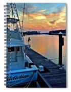 Ocean Addiction Sunset Spiral Notebook