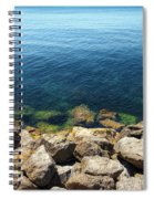 Ocean And Rocks Spiral Notebook
